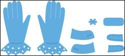 Creatables Marianne Design Tiny`s gloves