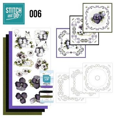 Stitch and Do nr. 6  Viooltjes