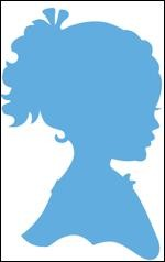 Creatables Marianne Design Silhouette girl with ponytail