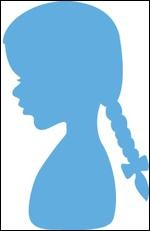 Creatables Marianne Design Silhouette girl with braids