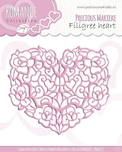 Die - PM Romance Filligree heart