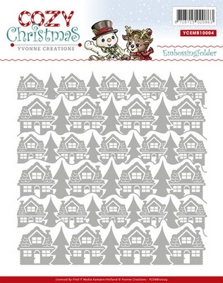 Embossing Folder Yvonne Creations - Cozy Christmas