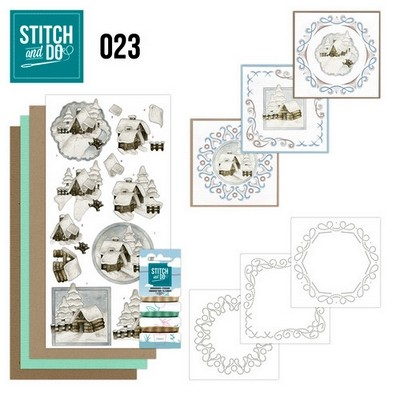 Stitch and Do nr. 23  Snow Cabins