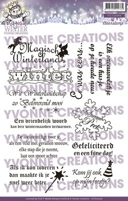 Clear Stamp Yvonne Creations - Magical Winter