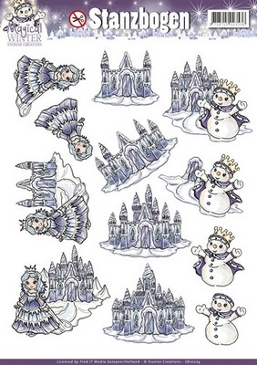 3D Push-out Yvonne Creations - Magical Winter