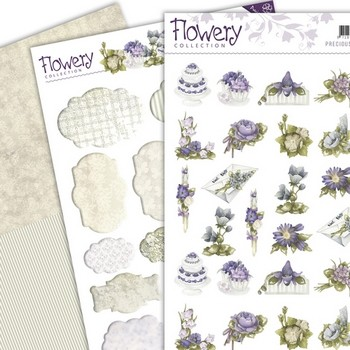 3D Set Mini`s & Labels - Precious Marieke - Flowery
