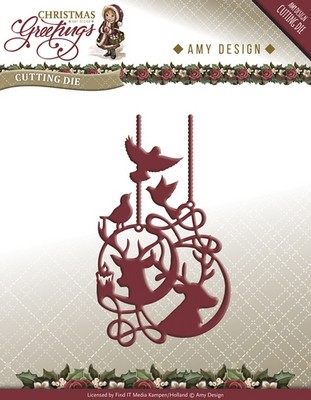 Die van Amy Design - Christmas Greetings - Rendier Ornament