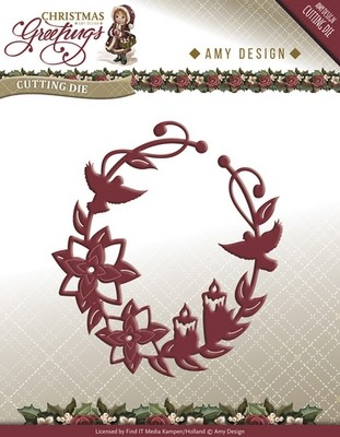 Die van Amy Design - Christmas Greetings - C.Greetings Ornament