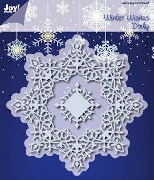 Joy! Winter wishes doily