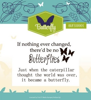 Yvonne Creations Special - Butterfly - Clearstamp