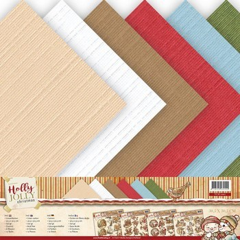 Linnenpakket Scrap - Yvonne Creations - Holly Jolly