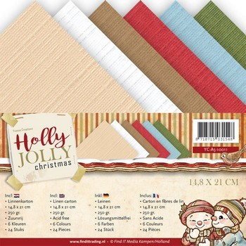 Linnenpakket A5 - Yvonne Creations - Holly Jolly