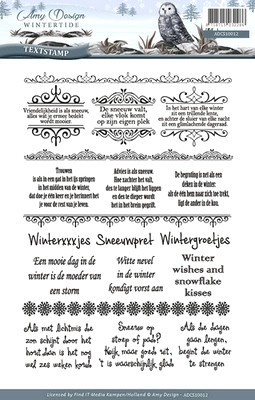 Clearstamp -Amy Design - Wintertide - Tekst