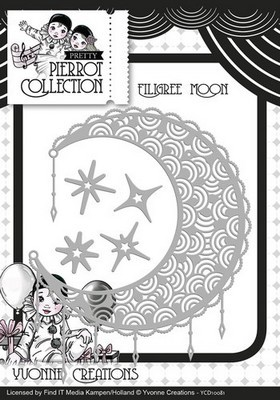 Die - Yvonne Creations - Pretty Pierrot -Filigree Maan