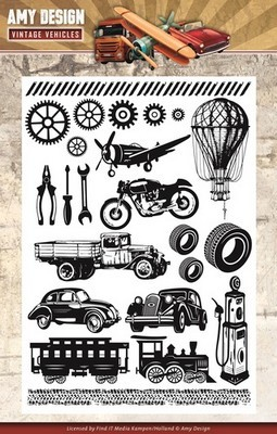 Clearstamp - Amy Design - Vintage Vehicles -  Afbeeldingen