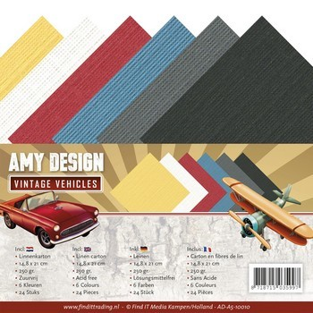 Linnenpakket A5 - Amy Design - Vintage Vehicles