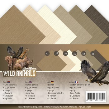 Linnenpakket Vierkant - Amy Design - Wild Animals