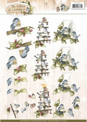 3D Knipvel - Precious Marieke - The Nature of Christmas - Birds