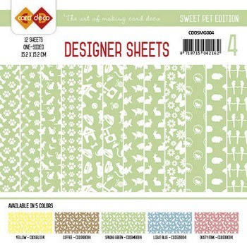 Designer Sheets - Amy Design - Sweet Pets - Meigroen