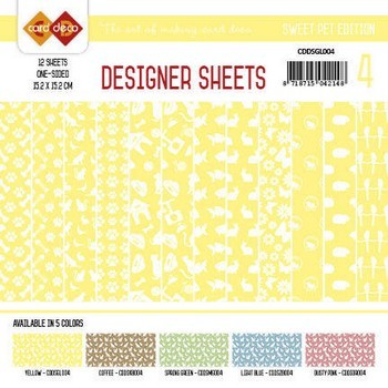 Designer Sheets - Amy Design - Sweet Pets - Geel