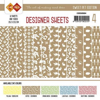 Designer Sheets - Amy Design - Sweet Pets - Koffiebruin