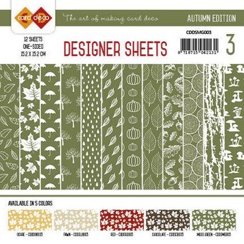 Designer Sheets Yvonne Creations - Autumn Colors -Mosgroen