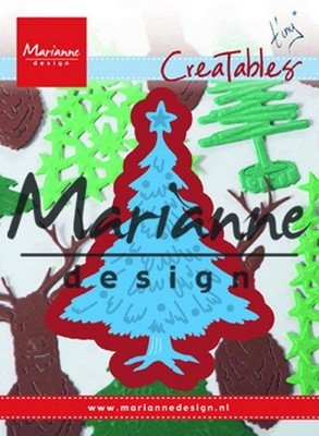 MD Creatables stencil - Tiny``s Kerstboom versierd