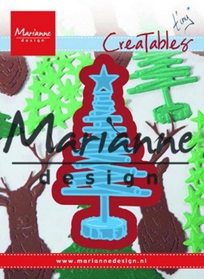 MD Creatables stencil - Tiny``s Kerstboom van hout