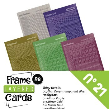 Frame Layered Cards nr. 21 - Stickerset