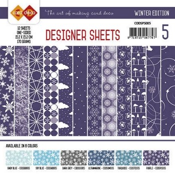 Designer Sheets - Winter Edition - Paars