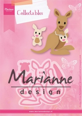 Marianne D - Collectables - Eline`s kangaroe & baby