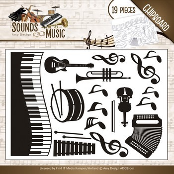 Chipboard Amy Design - Sounds of Music