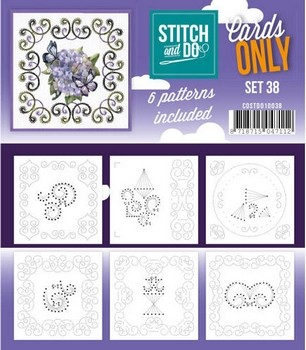 Stitch & Do Only Cards - set 38
