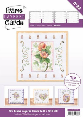 Frame Layered Cards nr. 23 - Vierkant - Vintage Flowers