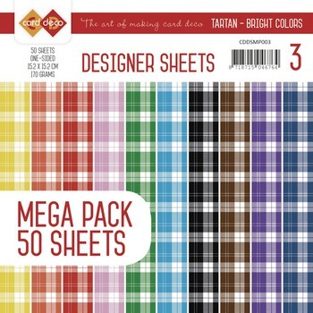 Designer Sheets Mega Pack 3 - Tartan - Bright Colors