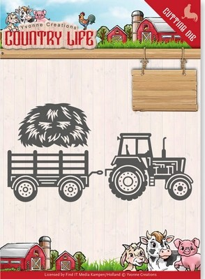 Dies - Yvonne Creations - Country Life - Tractor