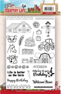 Clearstamp - Yvonne Creations - Country Life - Boerderij Frame