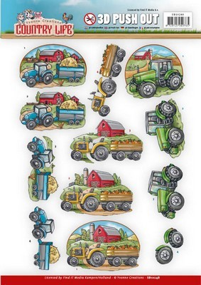 Push Out - Yvonne Creations - Country Life - Tractors