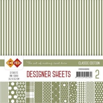 Card Deco - Designer Sheets - Classic Edition- mosgroen
