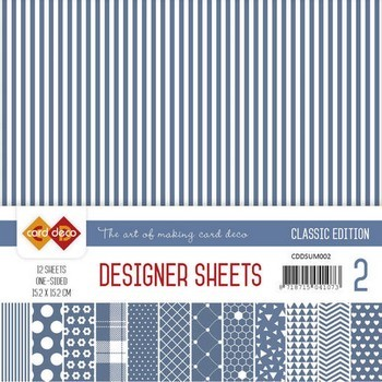 Card Deco - Designer Sheets - Classic Edition- ultramarijn