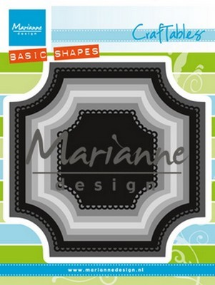 Marianne Design Craftable stencil Basic Vierkant