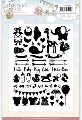 Clearstamp Yvonne Creations - Welcome Baby