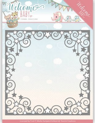 Dies - Yvonne Creations - Welcome Baby - Star Frame