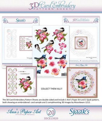 Ann`s Paperart - 3D Card Embroidery Pattern Sheet #20 with Ann & Sjaak