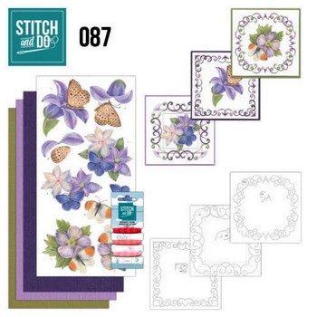 Stitch and Do 87 - Paarse bloemen