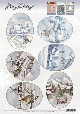 Topper knipvel Amy Design - Winter Landscapes