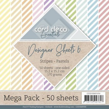 Designer Sheets Mega Pack 6 - Stripes - Pastels