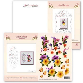 Ann`s Paper Art - 3D Card Embroidery Pattern Sheet #21 met Ann & Laura