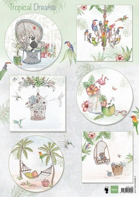 3D Decoupage sheet Marianne D. - Els Tropical Dreams