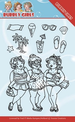 Clear Stamp - Yvonne Creations - Bubbly Girls - Beach girls